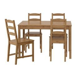 JOKKMOKK Table and 4 chairs - IKEA. This is what I have- it's really great for the price. You'd want to get some cushions for the seats though as they're kind of hard.