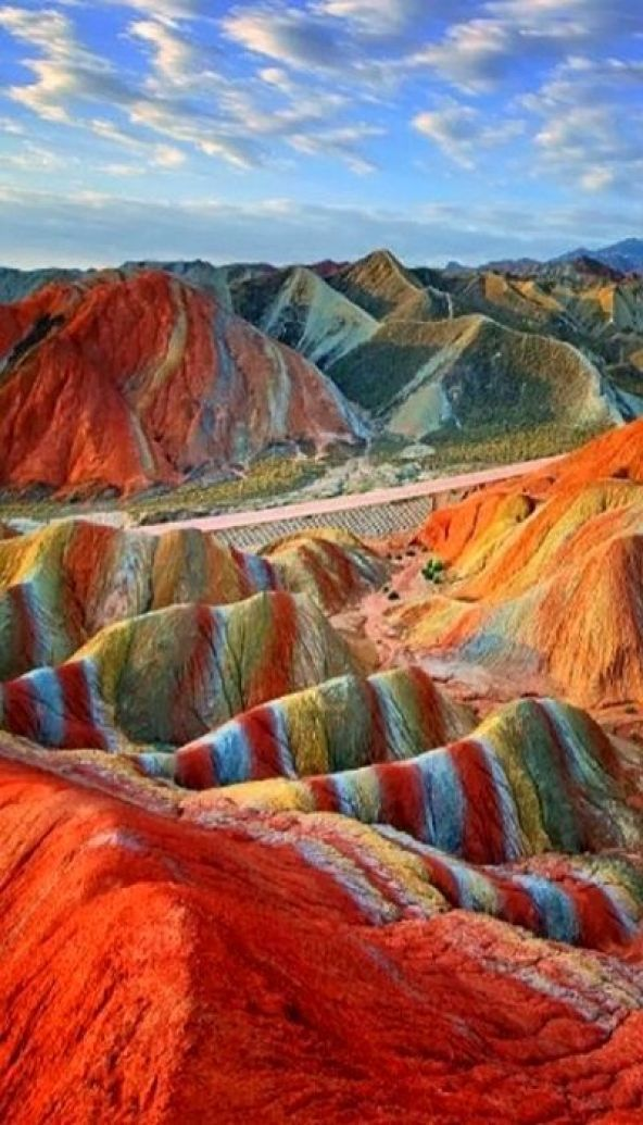 Magical Rainbow Mountains at the Zhangye Danxia Landform Geological Park in Gansu , China: Amazing destinations: 20 Amazing Travel Destinations You've Dreamt Of