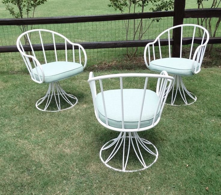 Charming 14812 Three Original Mid Century Russell Woodard SCULPTURA ~ PATIO CHAIRS |  EBay