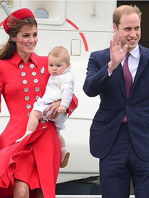 Kate, William & Prince George Arrive in New Zealand   April 2014 #PrinceGeorge #NewZealand