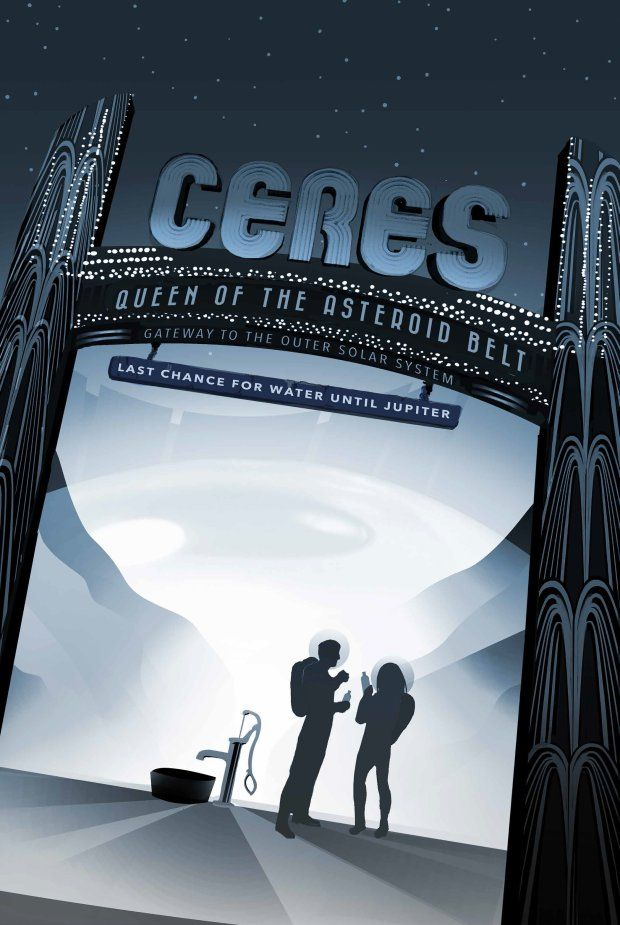 Zdjęcie numer 12 w galerii - Wizja przyszłości na plakatach NASA. Podróże kosmiczne będą codziennością?
