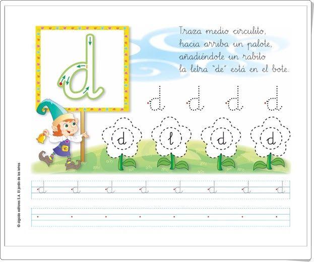 """Letra """"d"""" (El jardín de las letras. Lectoescritura. Consonantes. Algaida +)"""