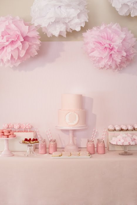Super Cute! (This little girls birthday is also right before Christmas... great ideas to incorporate Christmas decor for the party)