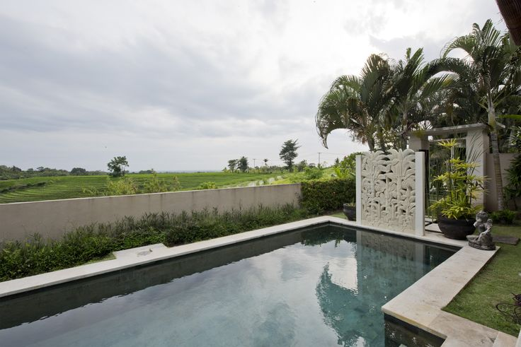 Beautiful swimming pool in our private villa. Bali, Indonesia