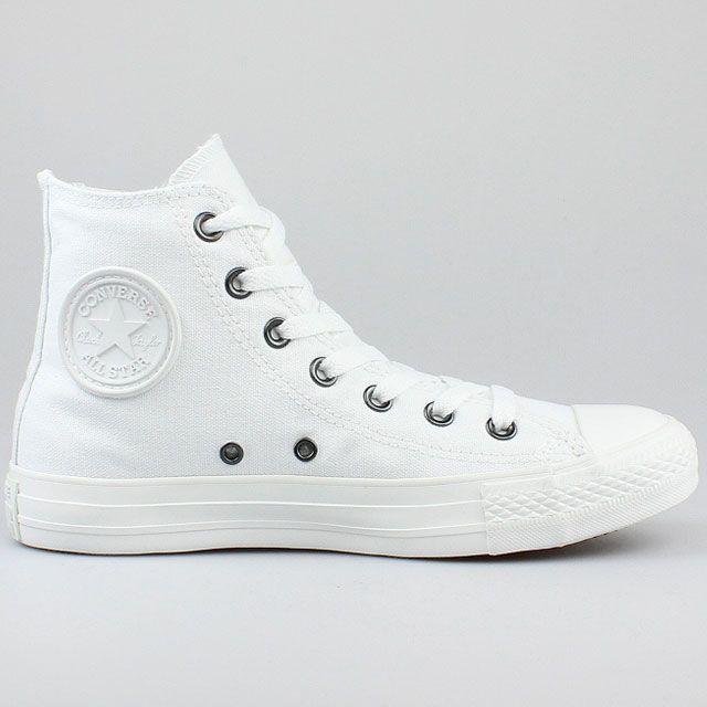 CONVERSE ALL STAR CHUCKS HI MONO CHROME WEISS WHITE 1U646 SCHUHE | eBay