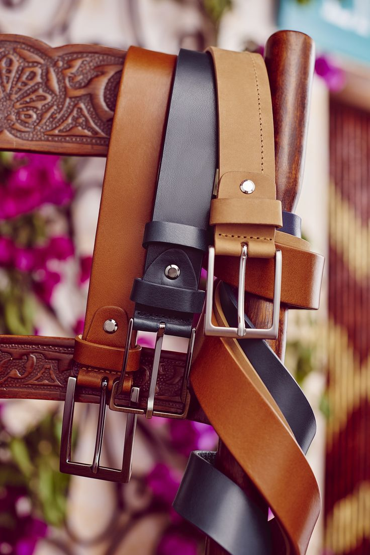 Leather belt & Italian Style