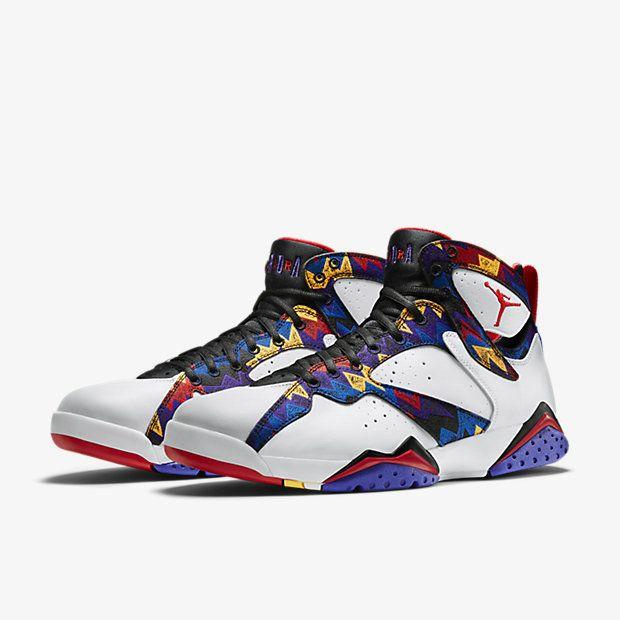 promo code 9d863 d508a Big Boys Shoe Air Jordan 7 VII Retro White Black Bright Concord University  Red