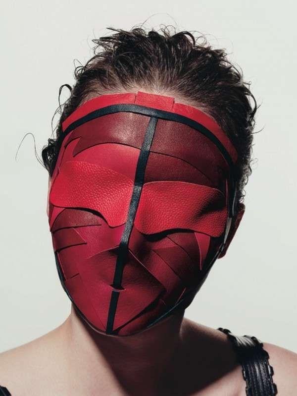 Minimalist Murder Masks : leather masks by peter phillips