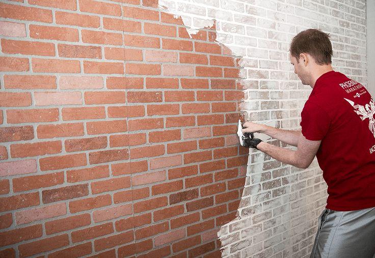 German Smear technique Faux Brick Wall
