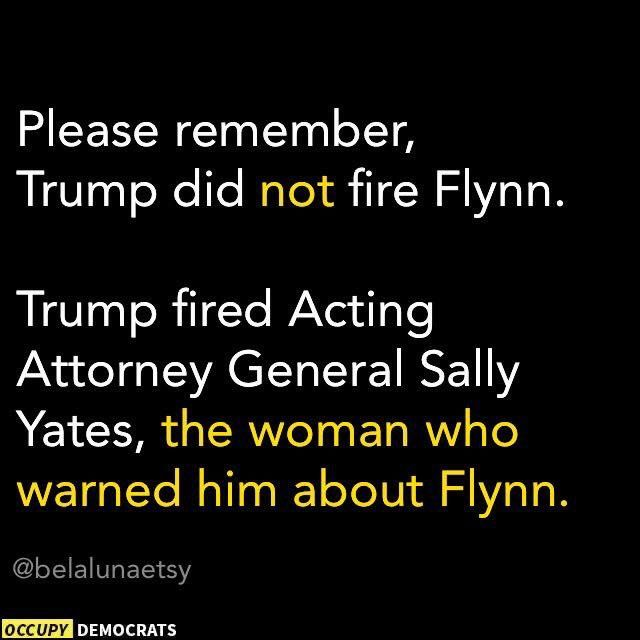 Anyone who hires a Foreign Agents as our National Security Advisor is suspect. Trump didnt fire Flynn. Flynn resigned after LEAKS.