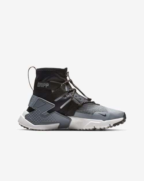 a3840a4421702 Nike   Air Huarache Gripp Shield   Atmosphere Grey Vast Grey Cool  Grey Black   Shoes   2018