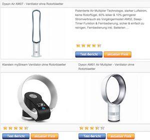Fancy Ventilator ohne Rotorbl tter Fl gel Vergleich Testsieger ua Turmventilator Deckenventilator mit Lampe