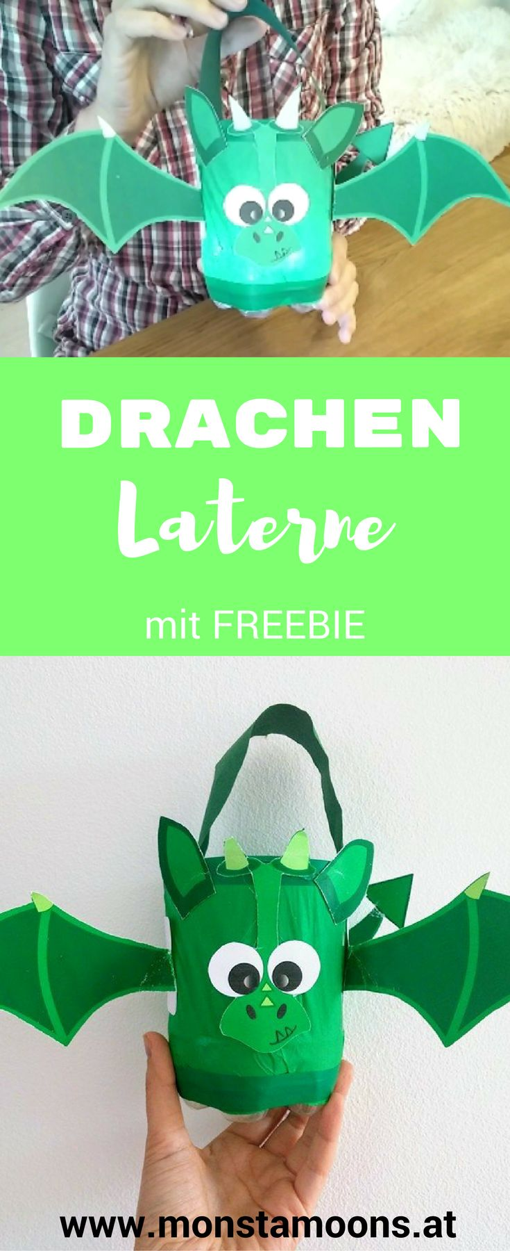 Laterne basteln DIY Laterne latern craft dragon latern Drachen Laterne St