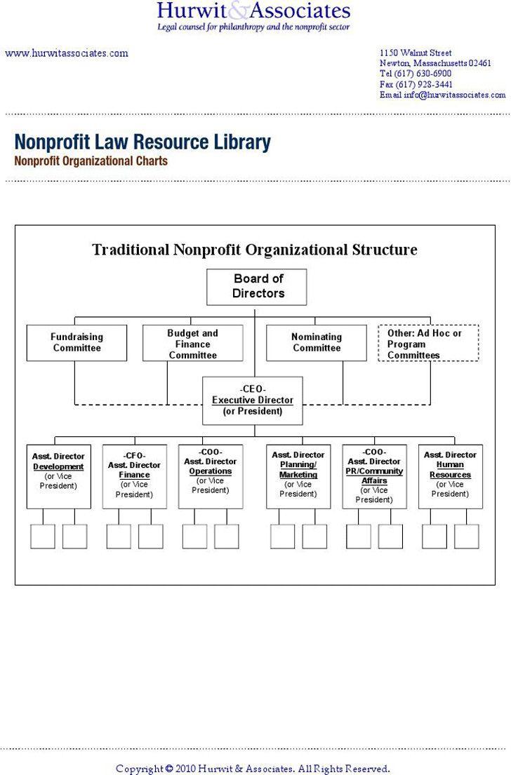 Nonprofit Structure Nonprofit Organizational Structure Organizational Chart Organizational Structure Business Organizational Structure