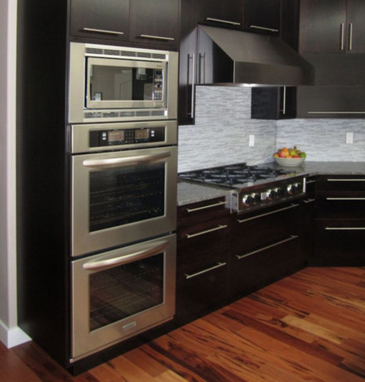 Kitchen Stove Installation Guide: Positioning Of Wall Oven, Microwave, Stove Top