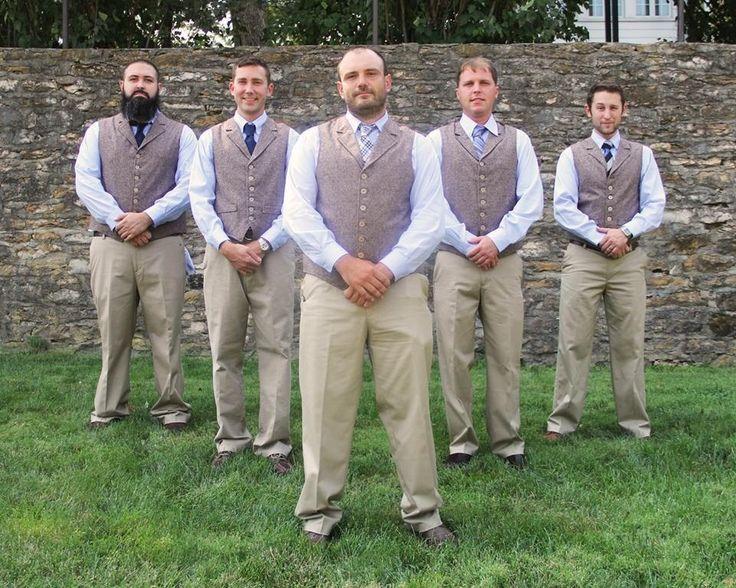 Wedding Party Men's Vest Groomsmen Groom Custom Made to Order wool tweed, stripe, herringbone, glen plaid by PattenCreations on Etsy https://www.etsy.com/listing/191537644/wedding-party-mens-vest-groomsmen-groom