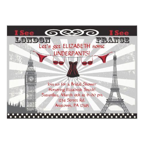Black & Red Bridal Shower Invitations