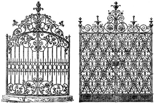 Very Victorian Wrought Iron Gates Secret Garden Sleeve