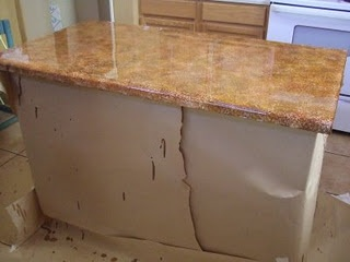 ... How to paint, Painted granite countertops and Faux granite countertops