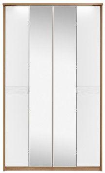 Ocean White 4 Door Centre Mirror Wardrobe COWF2640C Crafted from premium grade oak £541.50