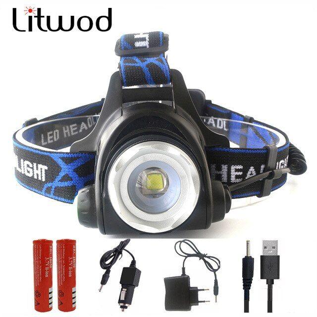 Mini Waterproof Led Rechargeable Flashlight Torch Super Bright Light Battery RU