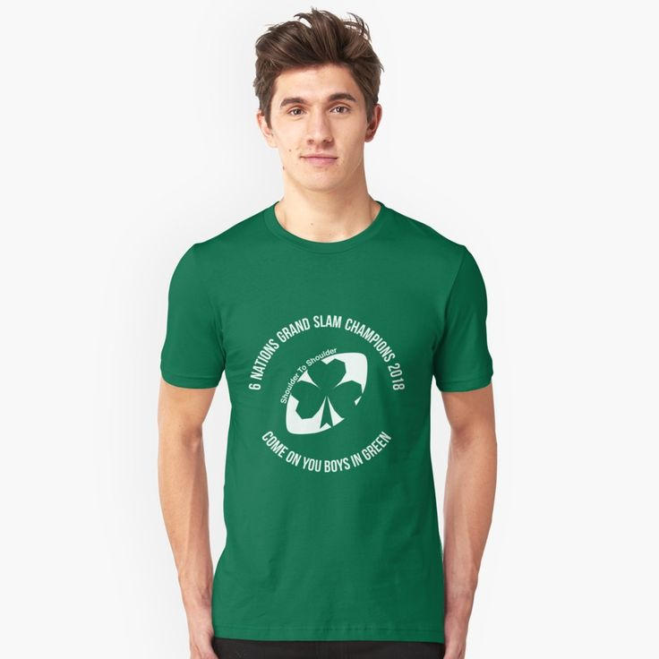 Ireland Grand Slam 2018 unisex tee by Fimbis   _________________________________  Ireland, Irish, Ulster, Connacht, Leinster, Munster, shamrock, Irish rugby, rugby world cup, 6 nations, coybig, coygig, wrwc, 6 nations grand slam champions 2018, Kieth Earls, Rory Best, Jacob Stockdale, Sean Cronin, Tadhg Furlong, Cian Healy, CJ Stander, Conor Murray, Jonathan Sexton, Garry Ringrose, Rob Kearney, tees, t-shirt, apparel, tee, clothing,