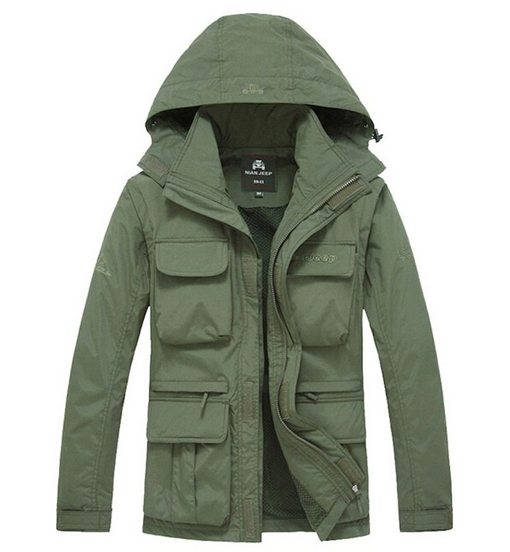 free shipping 2017 AFS JEEP  jacket men hot sale man jacket large casual trench winter coat autumn thick cotton outerwear 135