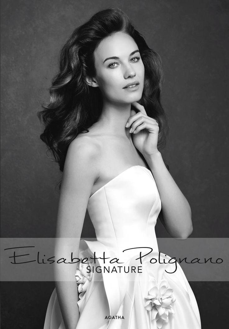 Collezione Signature 2015 - Elisabetta Polignano: Abito da sposa in seta strutturato con fiori #wedding #weddingdress #weddinggown #abitodasposa