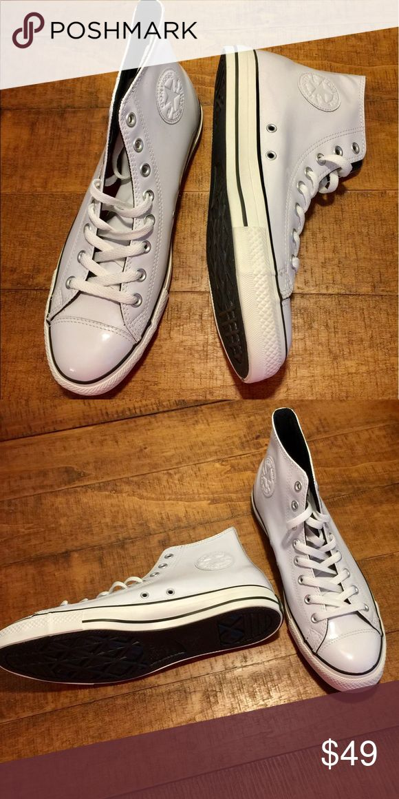 Patent leather converse Patent leather converse high tops. Can be dressed up or down. Converse Shoes Sneakers