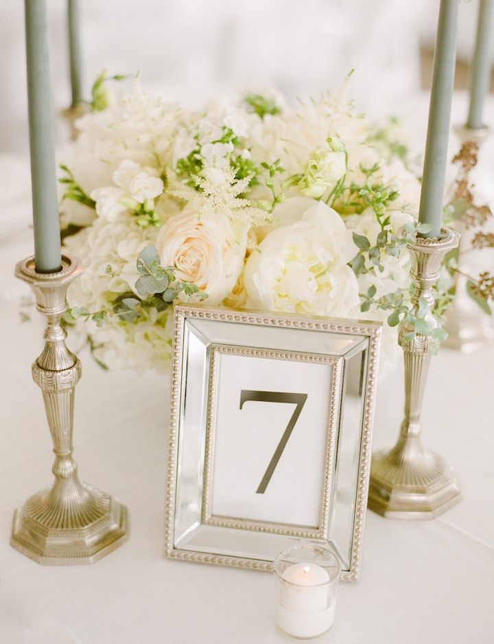 Featured Photographer: Lindsay Madden Photography; wedding centerpiece idea