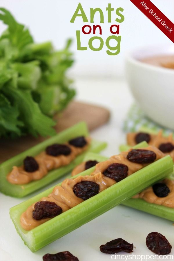 After School Snack: Ants on a Log. A simple, healthy and inexpensive snack idea.