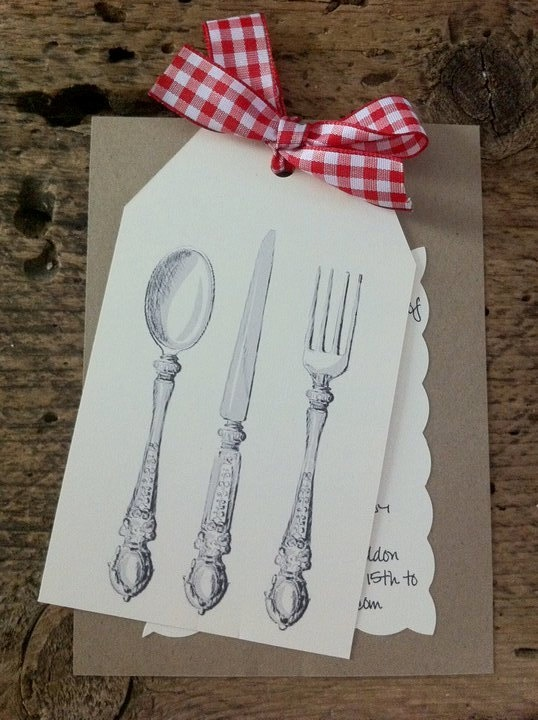 so cute ~ Dinner party invites