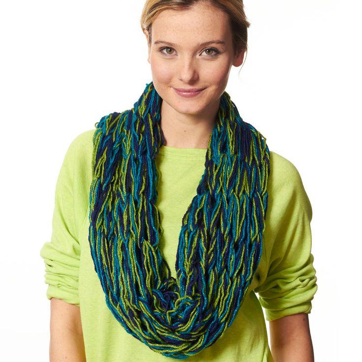 Arm Knitting Cowl : Caron simply soft party™ arm knit cowl armknitting