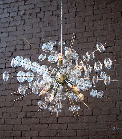 Bubbles Modern Brass & Glass Chandelier | Scenario Home