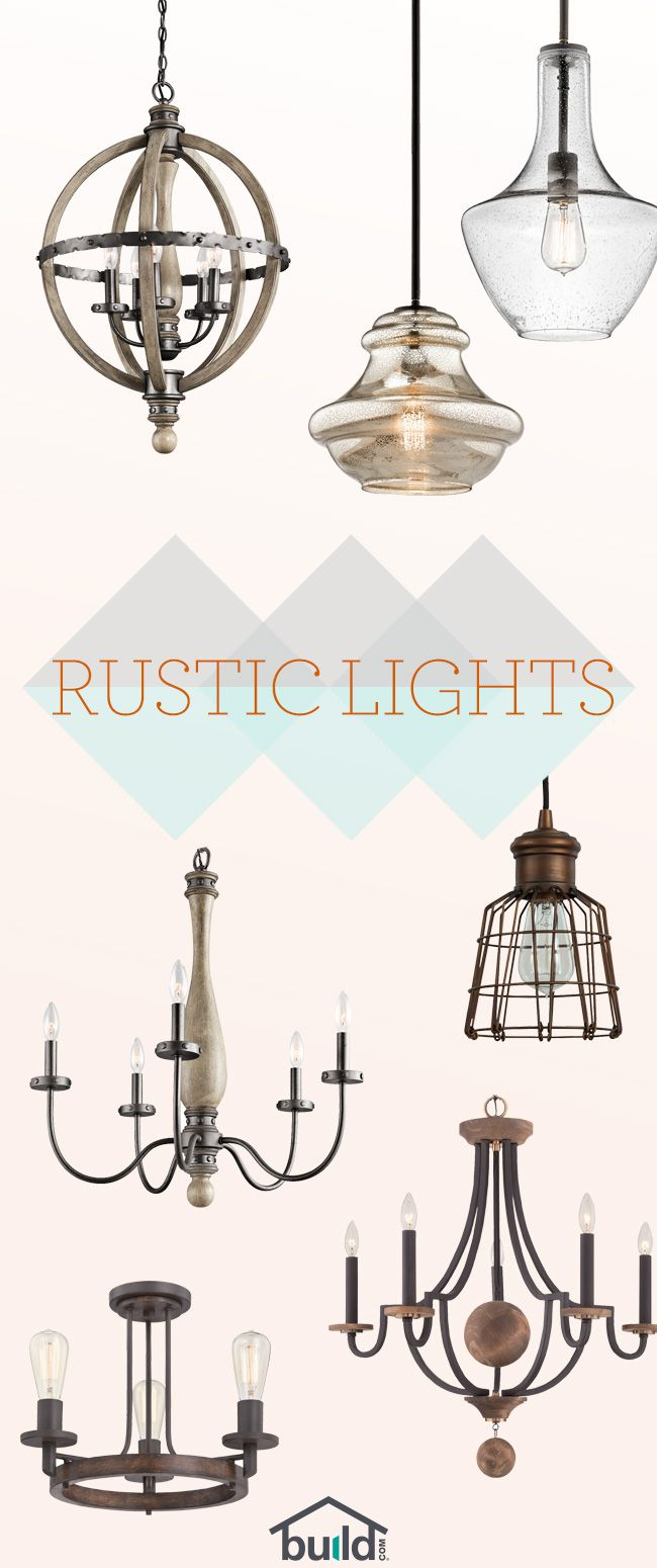 Beautiful Rustic Lighting starting at $65! Give your room a fresh look and feel…