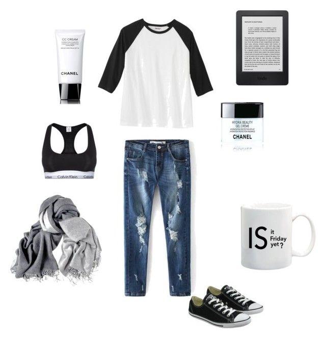 """Senza titolo #12"" by alixist-1 on Polyvore featuring moda, Calvin Klein Underwear, Converse e Chanel"