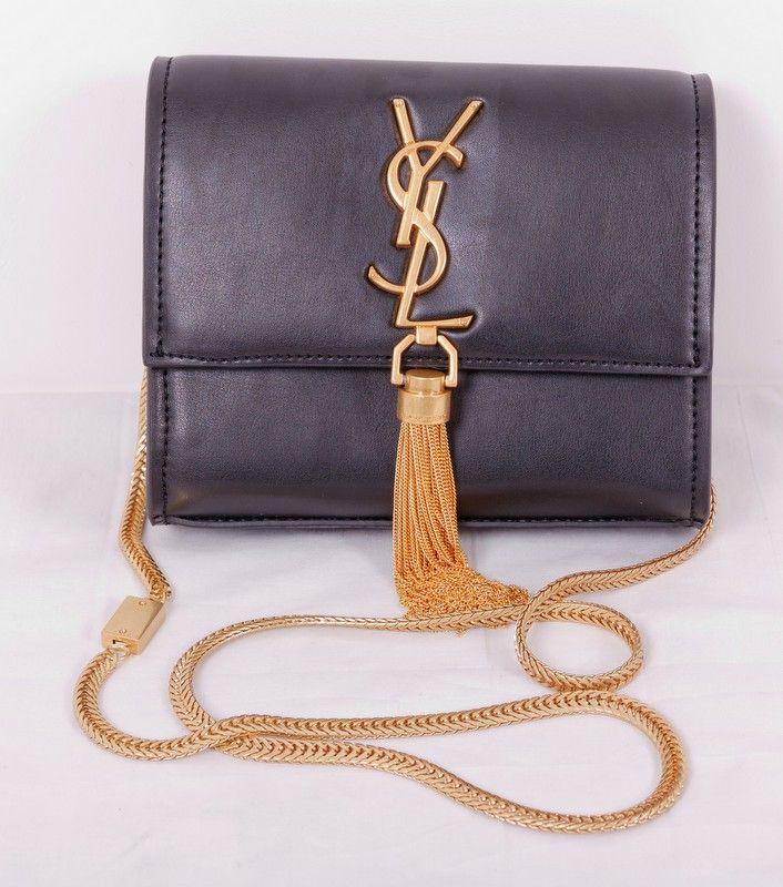 Кожаная сумка-клатч Yves Saint Laurent на цепочке. Размер 17x15x5cm #20025