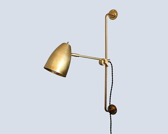 Plug In Wall Sconce Irwin Wall Lamp Industrial Modern Bedside Lamp Bedside Lamp Modern Industrial Wall Lamp Modern Wall Lamp