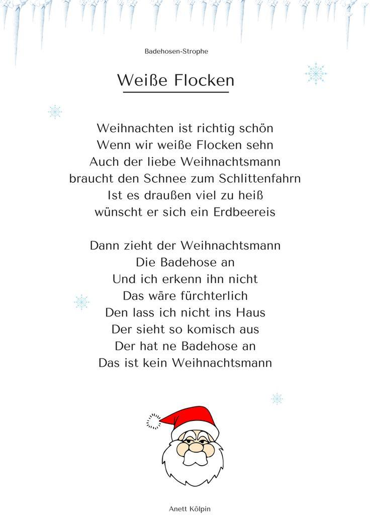 """""""Weiße Flocken"""" (2) - Weihnachtsgedicht & Lied - mp3 hören auf: www.kitakiste.jimdo.com"""