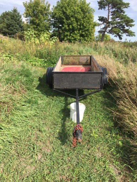 maybe not strong enough 4x8 utility trailer $500 obo