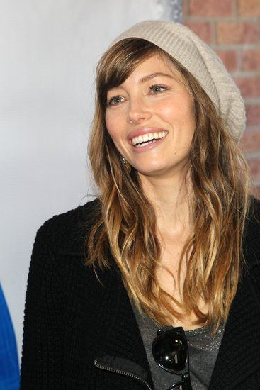 Jessica Biel Jessica Biel proves the versatility of blunt bangs, wearing hers sideswept and under a cute chapeau.