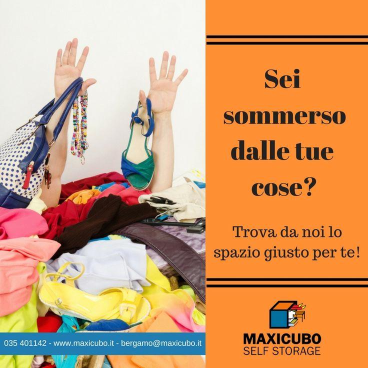 Hai bisogno di più spazio? Stai cercando un posto sicuro dove depositare le tue cose? La soluzione giusta per te è Maxicubo Self Storage