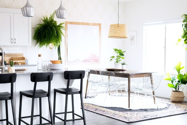 """While it may be tempting to buy a standard dining set and not put much thought into it, seating can really make or break a space, especially if you like to entertain. """"Aspyn and her husband love..."""