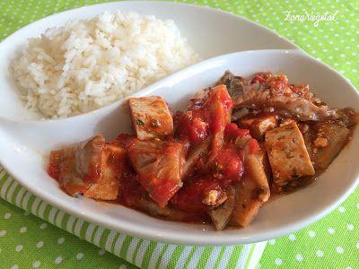 Setas Asadas con Tofu Marinado