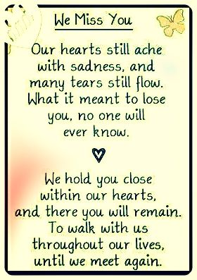 We miss you...if only words could describe how deep the wound goes, each and every time we have to say good-bye to another baby.