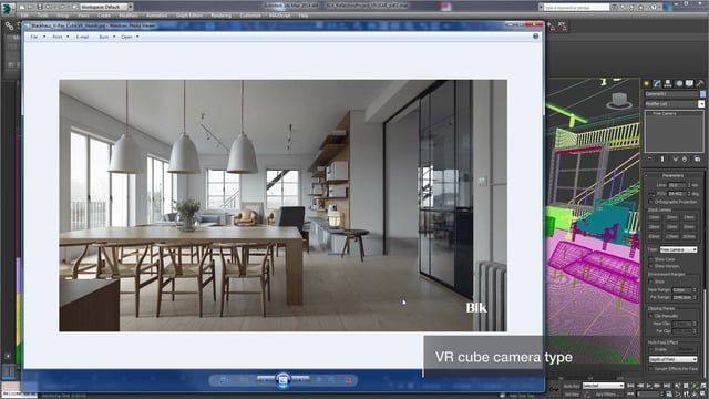 Here's how to create a cubic VR map with V-Ray 3.2 for 3ds Max.