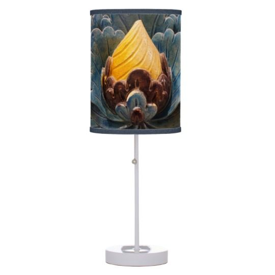 #zazzle #home #office #night #light #gift #giftidea #Lotus #Flower #Table #Lamp