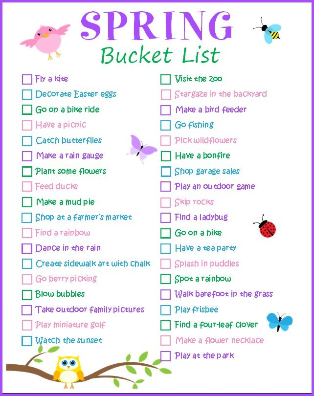 So many fun activities and ideas for the whole family on this Spring Bucket List! I can't wait to check them all off!