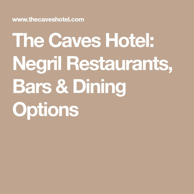 The Caves Hotel: Negril Restaurants, Bars & Dining Options
