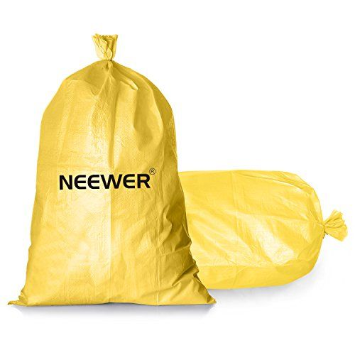 """Neewer 100-Pack 14""""x26""""/36cm x 66cm Empty Yellow Woven Polypropylene Sandbags with UV Coating Protection for Flood Protection, Construction Projects, Driveway and Traffic Control:   NOTE: The sandbag is EMPTY.brbrDescriptions:brbrExtended UV additive will give this bag a longer life than most in the sun.brbrThis bag is as easy to use as it is versatile and affordable. Use polypropylene material to have a solid construction, which helps to protect the sand from water, dirt or other eros..."""